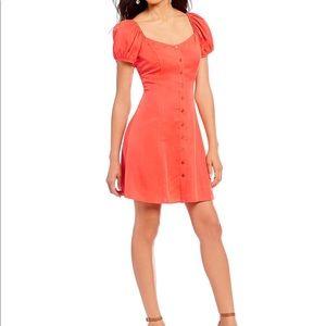 Gianni bini jemma puff sleeves dress